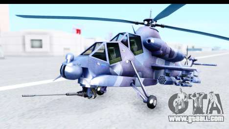 Denel AH-2 Rooivalk Blue for GTA San Andreas right view