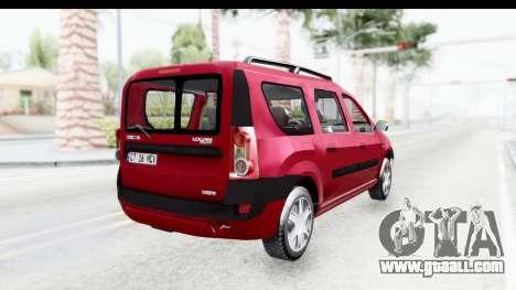Dacia Logan MCV for GTA San Andreas left view