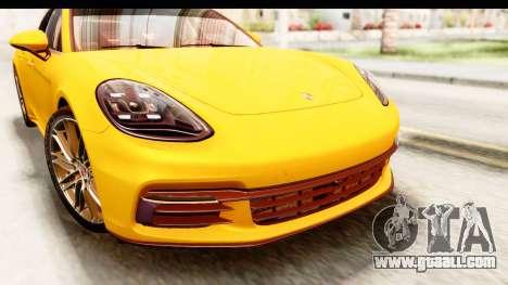 Porsche Panamera 4S 2017 v3 for GTA San Andreas back view
