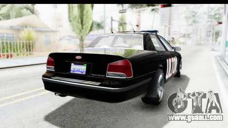 Vapid ULTOR Police Cruiser for GTA San Andreas back left view