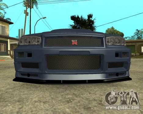Nissan Skyline Armenia for GTA San Andreas left view
