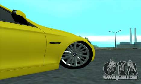 BMW 525 Gold for GTA San Andreas back view