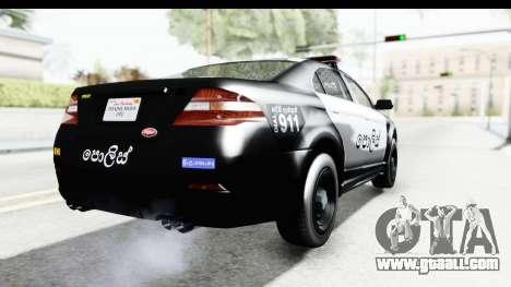 Sri Lanka Police Car v1 for GTA San Andreas right view