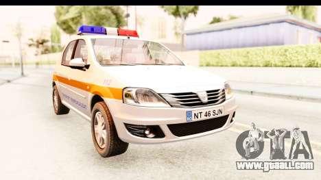 Dacia Logan Facelift Ambulanta v2 for GTA San Andreas right view