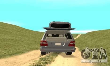 Toyota Land Cruiser 100 for GTA San Andreas inner view