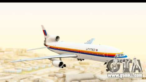 Lockheed L-1011-100 TriStar United Airlines for GTA San Andreas back left view