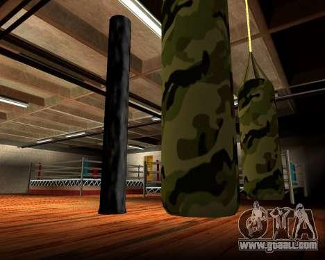 New military punching bag for GTA San Andreas fifth screenshot