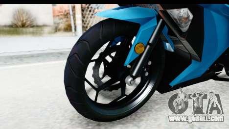 Kawasaki Ninja 300R for GTA San Andreas back view