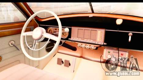 Packard Standart Eight 1948 Touring Sedan LAPD for GTA San Andreas inner view