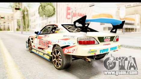 D1GP Nissan Silvia RC926 Toyo Tires for GTA San Andreas back left view