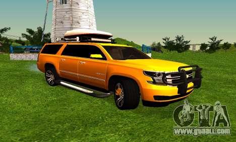 Chevrolet Suburban for GTA San Andreas left view