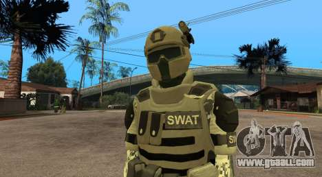 Elite GENSEC PAYDAY 2 SWAT Unit for GTA San Andreas