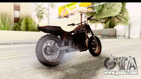 GTA 5 Western Cliffhanger Custom v1 for GTA San Andreas back left view