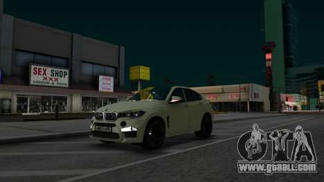 BMW X6M Bulkin Edition for GTA San Andreas right view