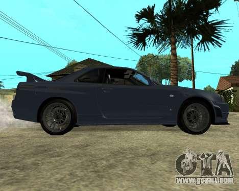 Nissan Skyline Armenia for GTA San Andreas back view