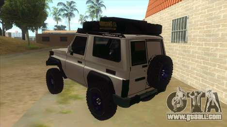 Toyota Machito Semi Off Road for GTA San Andreas back left view