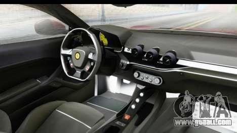 Ferrari F12 Berlinetta 2014 for GTA San Andreas back view