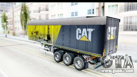 Trailer Caterpillar for GTA San Andreas back left view