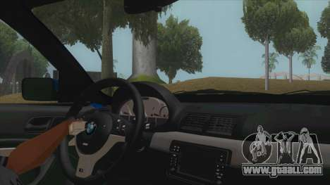 BMW E46 Touring Facelift for GTA San Andreas inner view