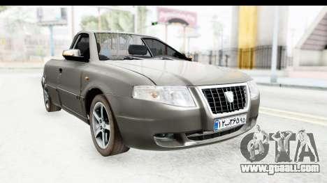 Ikco Samand Pickup v1 for GTA San Andreas right view