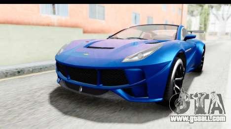 GTA 5 Dewbauchee Seven 70 for GTA San Andreas right view
