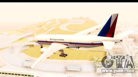 Boeing 777-200LR Philippine Airline Retro Livery for GTA San Andreas left view