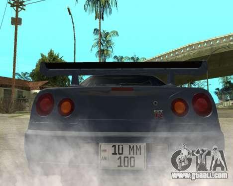 Nissan Skyline Armenia for GTA San Andreas back left view