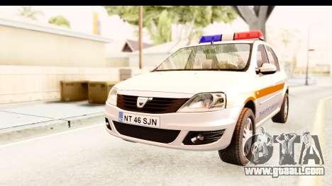 Dacia Logan Facelift Ambulanta v2 for GTA San Andreas
