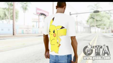 T-Shirt Pokemon Go Pikachu for GTA San Andreas second screenshot