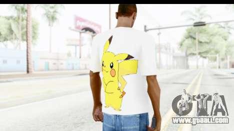 T-Shirt Pokemon Go Pikachu for GTA San Andreas second screenshot