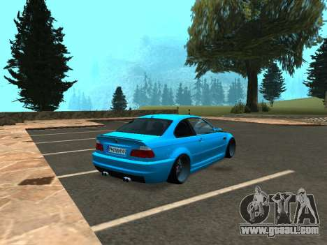 BMW M3 E46 Stance for GTA San Andreas back left view