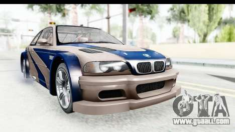 NFS Carbon - BMW M3 GTR for GTA San Andreas back left view