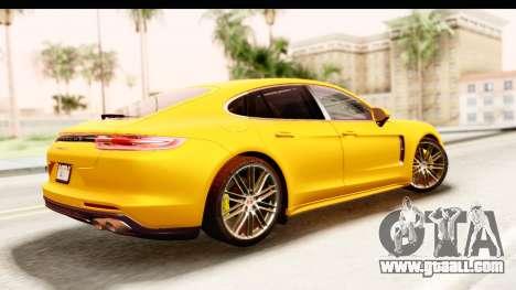 Porsche Panamera 4S 2017 v3 for GTA San Andreas left view