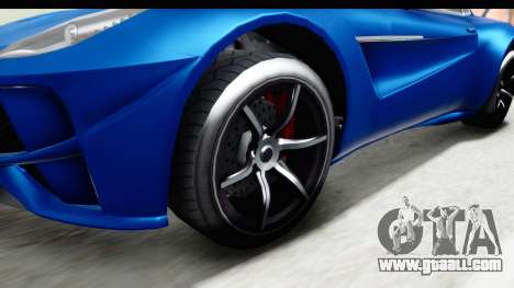 GTA 5 Dewbauchee Seven 70 for GTA San Andreas back view