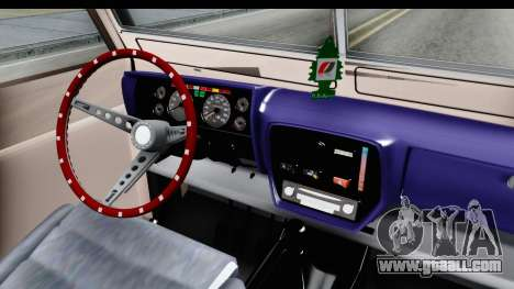 Land Rover Pickup Series3 for GTA San Andreas inner view