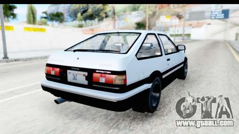 NFS 2015 Toyota AE86 for GTA San Andreas left view