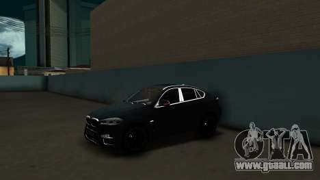 BMW X6M Bulkin Edition for GTA San Andreas back left view