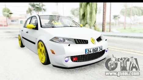 Renault Megane for GTA San Andreas back left view