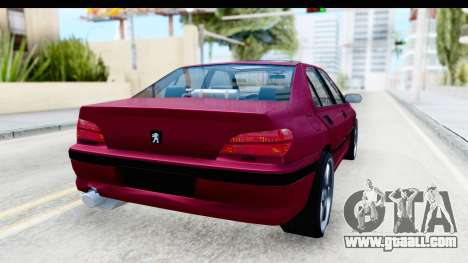 Peugeot 406 Light Tuning for GTA San Andreas back left view