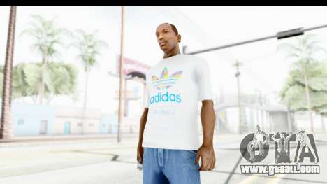Adidas White T-Shirt for GTA San Andreas second screenshot