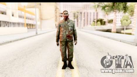 Left 4 Dead 2 - Zombie Military for GTA San Andreas second screenshot