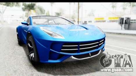 GTA 5 Dewbauchee Seven 70 for GTA San Andreas