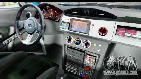Subaru BRZ Rally for GTA San Andreas inner view