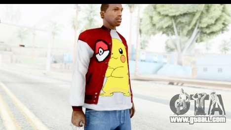 Jacket Pokemon Pokeball for GTA San Andreas third screenshot