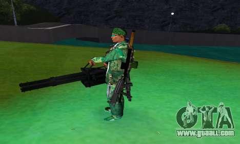 M134 MINIGUN BLACK for GTA San Andreas third screenshot