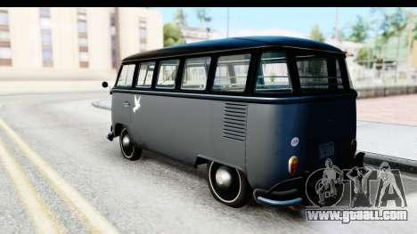 Volkswagen Transporter T1 Deluxe Bus for GTA San Andreas left view