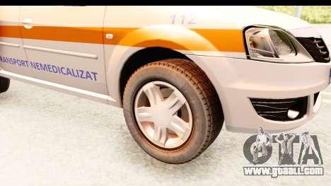 Dacia Logan Facelift Ambulanta v2 for GTA San Andreas back view