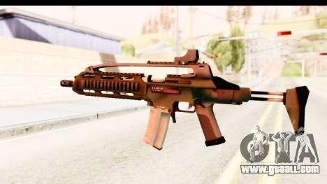 SCAR-LK Green for GTA San Andreas second screenshot