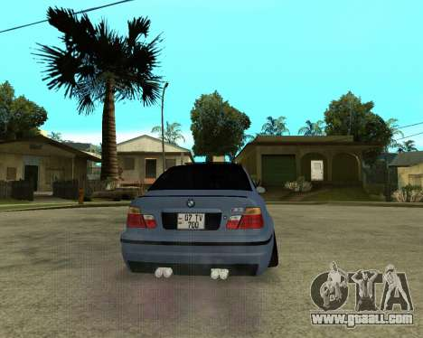 BMW M3 Armenian for GTA San Andreas inner view