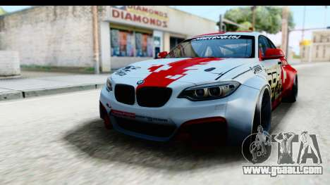 BMW M235i HGK for GTA San Andreas back left view